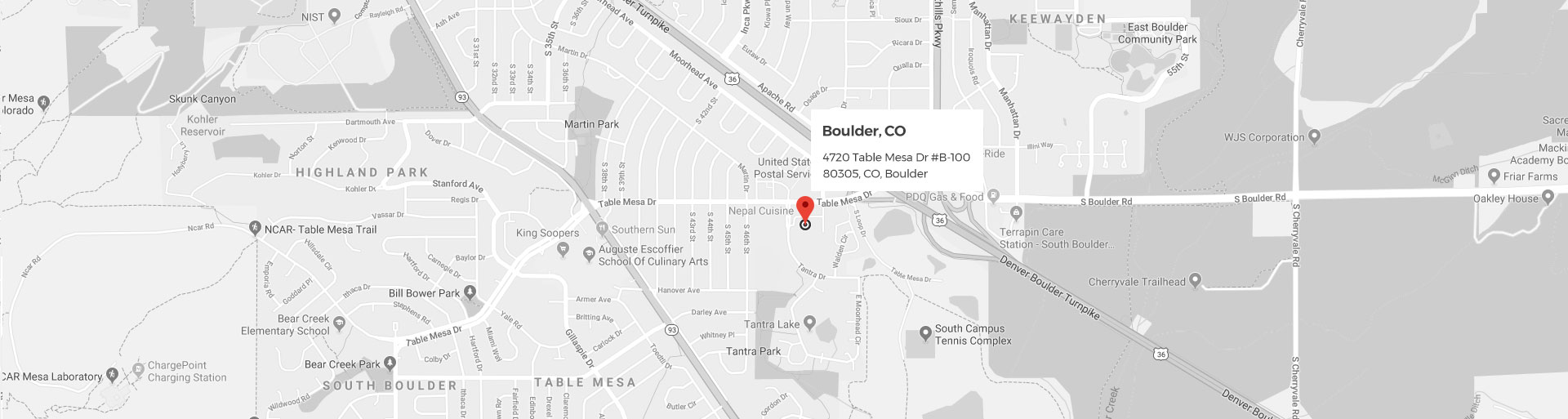 Boulder Google Location