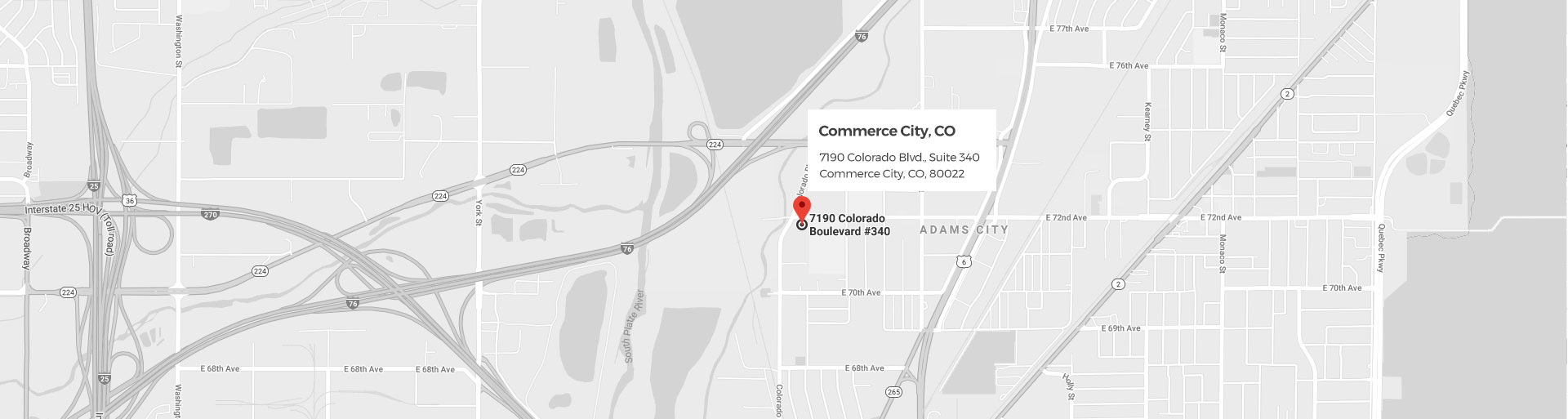 Commerce City Google Location